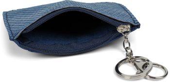 styleBREAKER Schlüsselmäppchen mit Schlangen Muster Struktur und Reißverschluss, Schlüsselring, Karabiner, Damen 05050096 – Bild 5