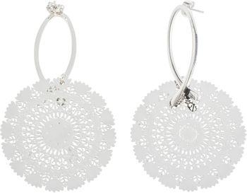 styleBREAKER Damen Edelstahl Ohrringe mit großem runden Ornament Anhänger, Stecker, Ohrhänger, Ohrschmuck 05090024 – Bild 1