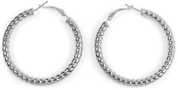 styleBREAKER Damen Creolen Ohrringe in Seil Optik, Klappbügel Verschluss, Runde Ohrhänger, Ohrschmuck 05090025 – Bild 5
