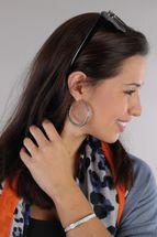 styleBREAKER Damen Creolen Ohrringe in Seil Optik, Klappbügel Verschluss, Runde Ohrhänger, Ohrschmuck 05090025 – Bild 7