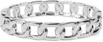styleBREAKER Damen Armreif in Gliederketten Optik, Clipverschluss Armband, Schmuck, Chain Optik 05040178 – Bild 1