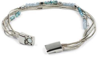 styleBREAKER Damen Armband mit feinen Schlangenketten und Kunststoff Perlen, Magnetverschluss, Armschmuck, Schmuck 05040179 – Bild 23