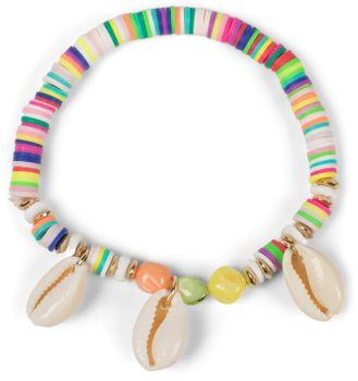 styleBREAKER Damen Armband mit 3 Muscheln und verschiedenen Perlen, Gummizug, Stretcharmband, Strandarmband, Schmuck 05040180 – Bild 13