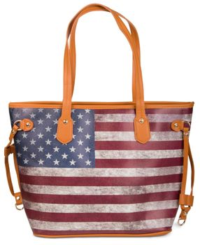 styleBREAKER designer handbag vintage USA stars and stripes design, tote bag, shoulder bag 02012003 – Bild 7
