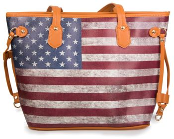 styleBREAKER designer handbag vintage USA stars and stripes design, tote bag, shoulder bag 02012003 – Bild 8