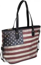 styleBREAKER designer handbag vintage USA stars and stripes design, tote bag, shoulder bag 02012003 – Bild 1