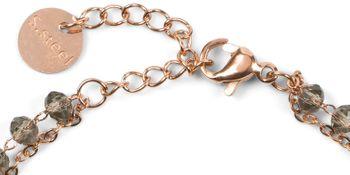 styleBREAKER Damen Edelstahl 2-reihige Layer Armkette mit Kunststoff Perlen und runden Anhängern, Ankerkette, Schmuck 05040186 – Bild 19
