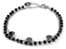 styleBREAKER Damen Edelstahl 2-reihige Layer Armkette mit Kunststoff Perlen und runden Anhängern, Ankerkette, Schmuck 05040186 – Bild 6