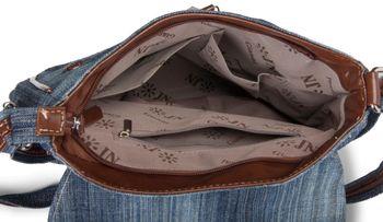 styleBREAKER Jeans Umhängetasche mit Strass Applikationen, Handtasche 02012004 – Bild 15