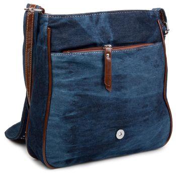 styleBREAKER jeans shoulder bag with rhinestone appliqué, hand bag 02012004 – Bild 11