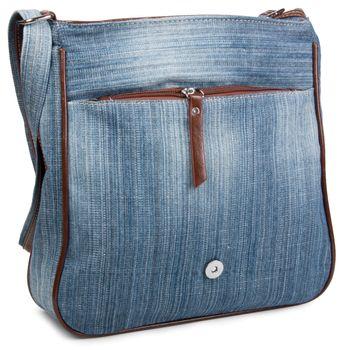 styleBREAKER Jeans Umhängetasche mit Strass Applikationen, Handtasche 02012004 – Bild 7