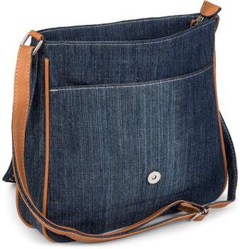 styleBREAKER jeans shoulder bag with rhinestone appliqué, hand bag 02012004 – Bild 28