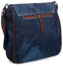 styleBREAKER Jeans Umhängetasche mit Strass Applikationen, Handtasche 02012004 – Bild 12