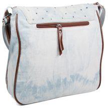 styleBREAKER Jeans Umhängetasche mit Strass Applikationen, Handtasche 02012004 – Bild 4