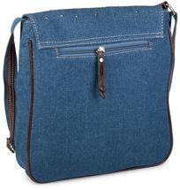 styleBREAKER Jeans Umhängetasche mit Strass Applikationen, Handtasche 02012004 – Bild 20