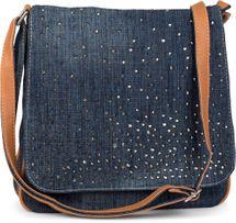 styleBREAKER Jeans Umhängetasche mit Strass Applikationen, Handtasche 02012004 – Bild 26