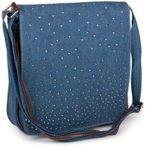 styleBREAKER Jeans Umhängetasche mit Strass Applikationen, Handtasche 02012004 – Bild 17