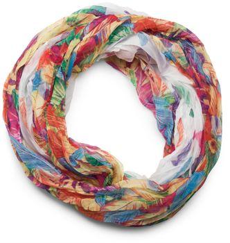 styleBREAKER lighter feather pattern loop tube scarf, crash and crinkle, silky 01016081 – Bild 11