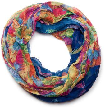 styleBREAKER lighter feather pattern loop tube scarf, crash and crinkle, silky 01016081 – Bild 21