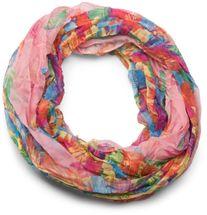 styleBREAKER lighter feather pattern loop tube scarf, crash and crinkle, silky 01016081 – Bild 15