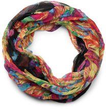 styleBREAKER lighter feather pattern loop tube scarf, crash and crinkle, silky 01016081 – Bild 17