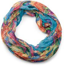 styleBREAKER lighter feather pattern loop tube scarf, crash and crinkle, silky 01016081 – Bild 19
