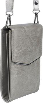 styleBREAKER Damen Mini Bag Umhängetasche, mit Metall Detail am Umschlag, Handytasche, Schultertasche, Handtasche 02012353 – Bild 30
