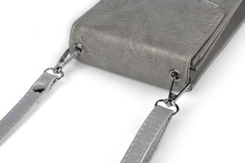 styleBREAKER Damen Mini Bag Umhängetasche, mit Metall Detail am Umschlag, Handytasche, Schultertasche, Handtasche 02012353 – Bild 32