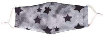 styleBREAKER Unisex Stoffmaske mit Sterne Muster im Vintage Look, Doppellagig, Wiederverwendbar, Waschbar, Community Maske 08040003 – Bild 7