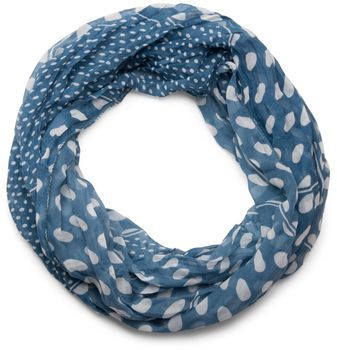 styleBREAKER lighter, silky dot pattern loop tube scarf, big and small dots 01016079 – Bild 4