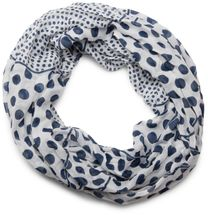 styleBREAKER lighter, silky dot pattern loop tube scarf, big and small dots 01016079 – Bild 11