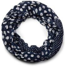 styleBREAKER light, silky polka dot pattern tube scarf, large and small dots 01016079 – Bild 5
