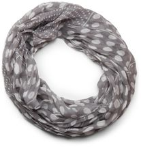 styleBREAKER lighter, silky dot pattern loop tube scarf, big and small dots 01016079 – Bild 7