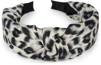 styleBREAKER Damen Haarreif mit Leoparden Animal Print Muster und Knoten, Retro Vintage Look, Haarband, Headband 04027022 – Bild 7