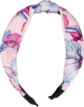 styleBREAKER Damen Haarreif mit buntem Blüten Muster Print und Knoten, Retro Vintage Look, Haarband, Headband 04027024 – Bild 10