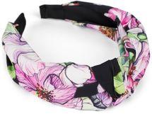 styleBREAKER Damen Haarreif mit buntem Blüten Muster Print und Knoten, Retro Vintage Look, Haarband, Headband 04027024 – Bild 1
