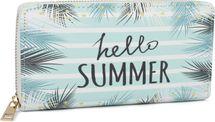 styleBREAKER Damen Geldbörse mit Hello Summer Print, verschiedene Motive, Reißverschluss, Portemonnaie 02040142 – Bild 9