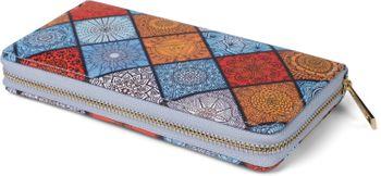 styleBREAKER Damen Geldbörse mit Indian Summer Ornament Muster, Mandala Stil, Reißverschluss, Portemonnaie 02040144 – Bild 11