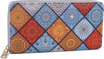 styleBREAKER Damen Geldbörse mit Indian Summer Ornament Muster, Mandala Stil, Reißverschluss, Portemonnaie 02040144 – Bild 9