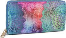 styleBREAKER Damen Geldbörse mit Paisley Ornament Muster, Mandala Stil, Reißverschluss, Portemonnaie 02040145 – Bild 1