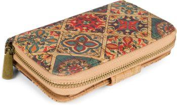 styleBREAKER Damen Geldbörse aus Kork mit buntem Ethno Ornamente Muster Print, Druckknopf, Reißverschluss, Portemonnaie 02040146 – Bild 15