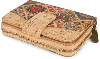 styleBREAKER Damen Geldbörse aus Kork mit buntem Ethno Ornamente Muster Print, Druckknopf, Reißverschluss, Portemonnaie 02040146 – Bild 14