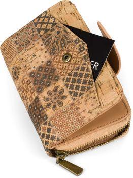 styleBREAKER Damen Geldbörse aus Kork mit buntem Ethno Ornamente Muster Print, Druckknopf, Reißverschluss, Portemonnaie 02040146 – Bild 27