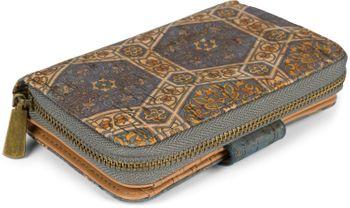 styleBREAKER Damen Geldbörse aus Kork mit buntem Ethno Ornamente Muster Print, Druckknopf, Reißverschluss, Portemonnaie 02040146 – Bild 3