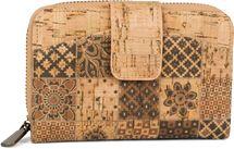 styleBREAKER Damen Geldbörse aus Kork mit buntem Ethno Ornamente Muster Print, Druckknopf, Reißverschluss, Portemonnaie 02040146 – Bild 5