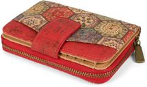 styleBREAKER Damen Geldbörse aus Kork mit buntem Ethno Ornamente Muster Print, Druckknopf, Reißverschluss, Portemonnaie 02040146 – Bild 10