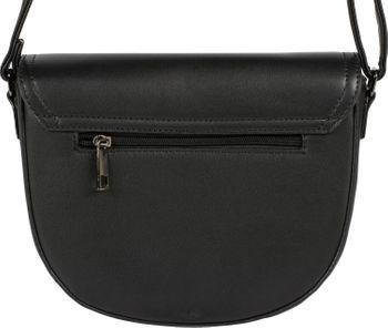 styleBREAKER Damen halbrunde Saddle Bag Umhängetasche einfarbig, Stift Verschluss und Kette, Schultertasche, Tasche 02012354 – Bild 4