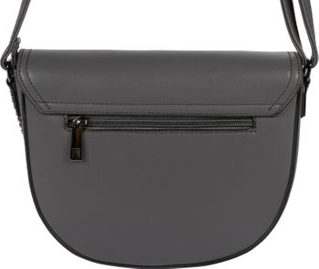 styleBREAKER Damen halbrunde Saddle Bag Umhängetasche einfarbig, Stift Verschluss und Kette, Schultertasche, Tasche 02012354 – Bild 28