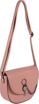 styleBREAKER Damen halbrunde Saddle Bag Umhängetasche einfarbig, Stift Verschluss und Kette, Schultertasche, Tasche 02012354 – Bild 31