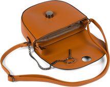 styleBREAKER Damen halbrunde Saddle Bag Umhängetasche einfarbig, Stift Verschluss und Kette, Schultertasche, Tasche 02012354 – Bild 17